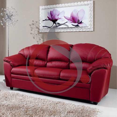 divano 3 posti ecopelle bordeaux 001 cs arredamenti